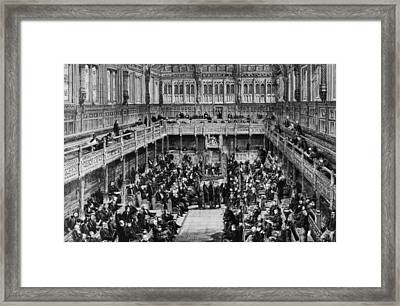 House Of Commons Interior Framed Print by Hulton Archive