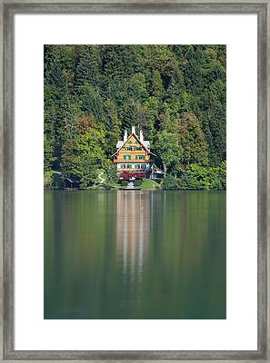 Framed Print featuring the photograph House On The Lake by Davor Zerjav