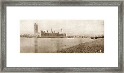 Houses Of Parliament Framed Print by Hulton Archive