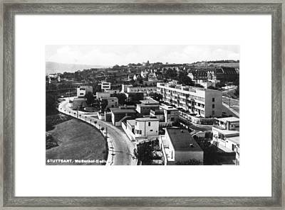 Housing Project Framed Print by Joan Woollcombe Collection