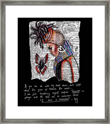 I Am A Woman Framed Print
