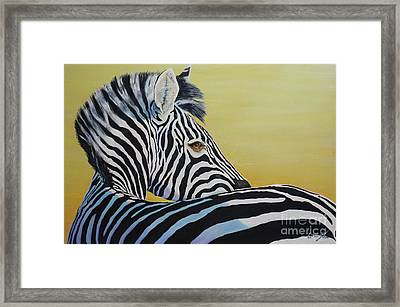 I Caught You Looking At Me Framed Print