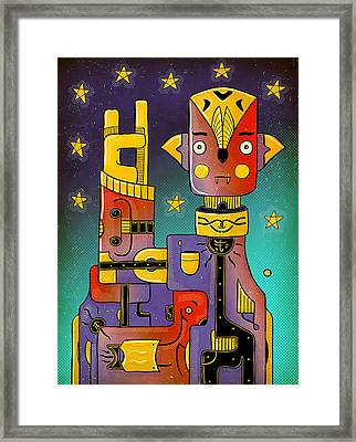 Framed Print featuring the photograph I Come In Peace - Heavy Metal by Sotuland Art