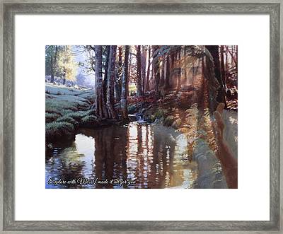 I Made It All For You Framed Print