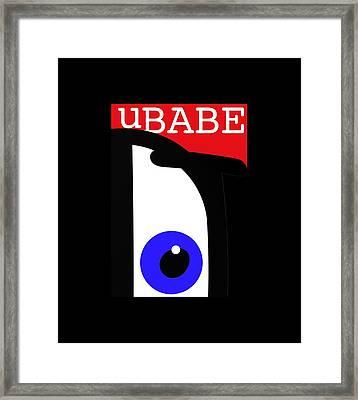 I See Ubabe Framed Print