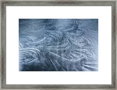 Ice Crystals Framed Print