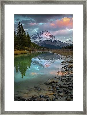 Framed Print featuring the photograph Ice Fields Parkway / Alberta, Canada  by Nicholas Parker