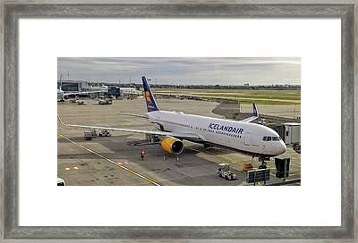 Icelandair Boeing 767-319 At London Heathrow Airport Framed Print