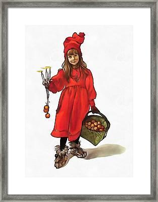 Iduna And Her Magic Apples Framed Print