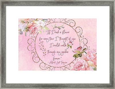 If I Had A Flower Love Artwork Framed Print