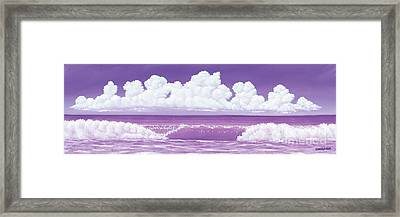 If The Sky Was Purple Framed Print