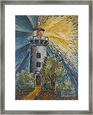 Framed Print featuring the painting Illumination by Maria Langgle