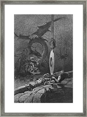 Illustration For Poes The Pit And The Framed Print by Kean Collection