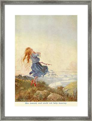 Illustration For The Red Shoes Framed Print
