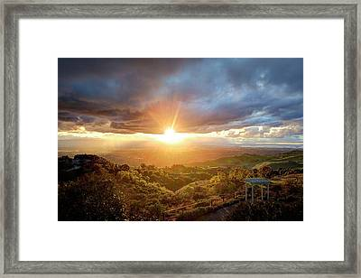Framed Print featuring the photograph I'm Flyin', I'm Flyin' High Like A Bird by Quality HDR Photography