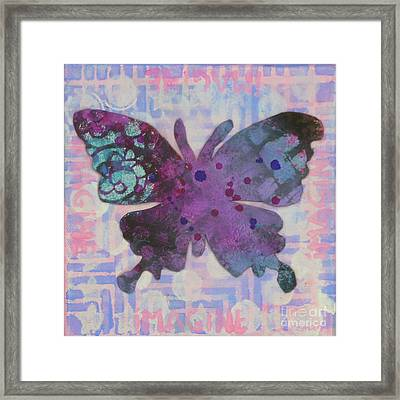 Imagine Butterfly Framed Print