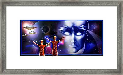 Imagine - What Is Out  There Framed Print