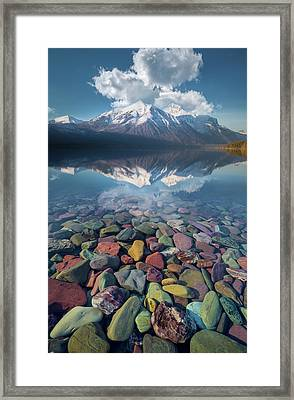 Framed Print featuring the photograph Immaculate Reflection / Lake Mcdonald, Glacier National Park  by Nicholas Parker