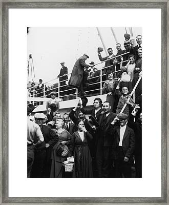Immigrants Framed Print by Fotosearch