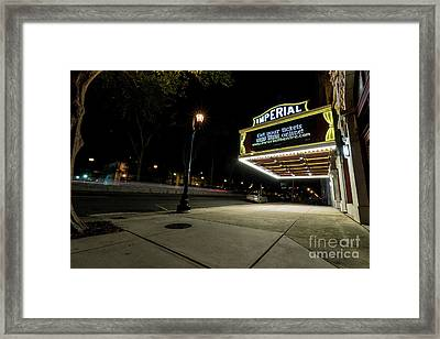 Imperial Theatre Augusta Ga Framed Print