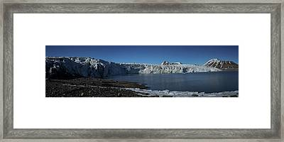 In Front Of A Glacier On Svalbard Framed Print