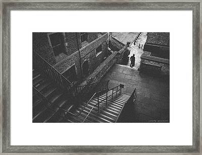 In Pursuit Of The Devil On The Stairs Framed Print
