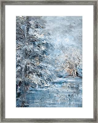 In The Snowy Silence Framed Print