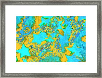 In Wild West Patterns Framed Print