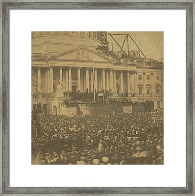 Inauguration Of Abraham Lincoln, March 4, 1861 Framed Print
