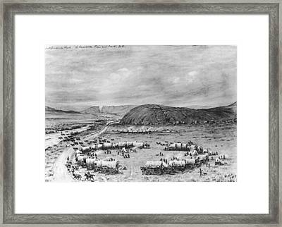 Independence Rock Framed Print by Fotosearch