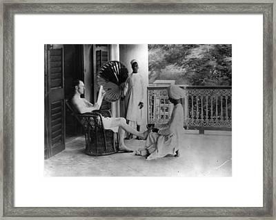 Indian Pedicure Framed Print by Hulton Archive