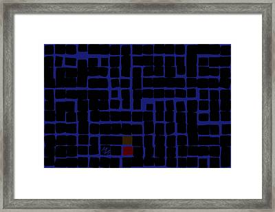 Framed Print featuring the digital art Industrial Night by Attila Meszlenyi