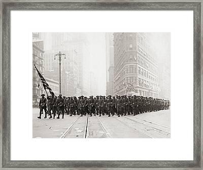 Infantry Parade Framed Print by Fpg