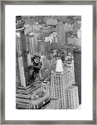 Inflatable King Kong On The Empire Framed Print