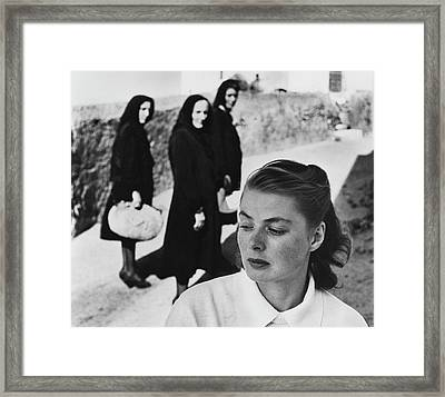 Ingrid Bergman In Italy For Stromboli Framed Print by Gordon Parks