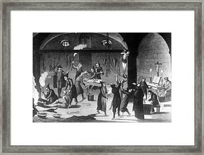 Inquisition Tortures Framed Print by Three Lions