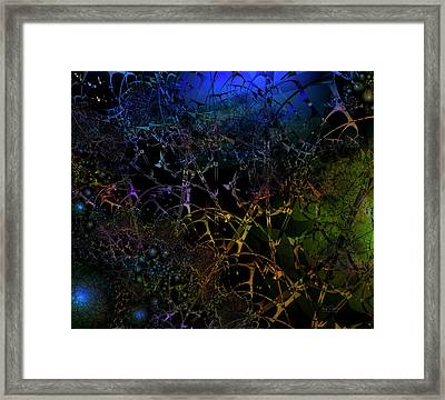 Framed Print featuring the digital art Inserted Illusions by Bill Posner