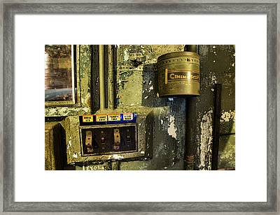 Framed Print featuring the photograph Inside The Projector Room by Kristia Adams