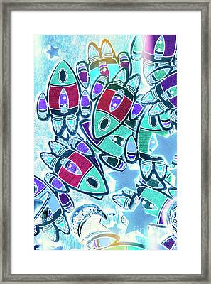Intergalactic Abstract Framed Print