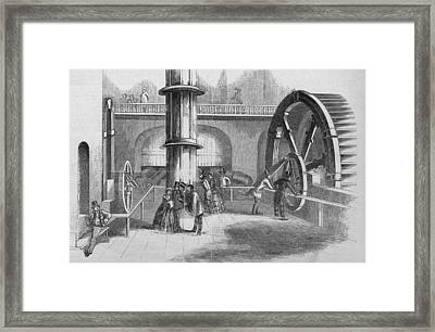Interior Of The Fairmont Water Works Framed Print by Kean Collection