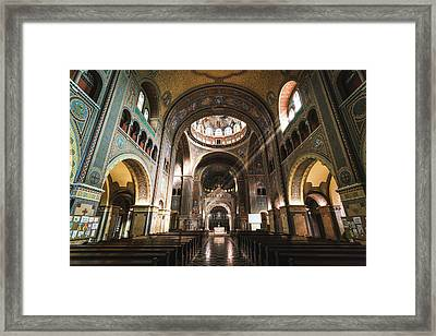 Interior Of The Votive Cathedral, Szeged, Hungary Framed Print