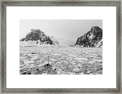 Into The Ice Framed Print