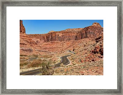 Framed Print featuring the photograph Into The Red Cliffs by Andy Crawford