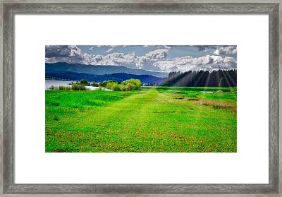 Inviting Airstrip Framed Print