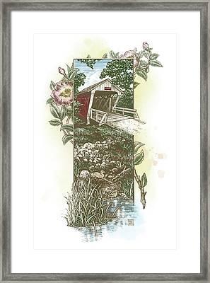 Iowa Covered Bridge Framed Print