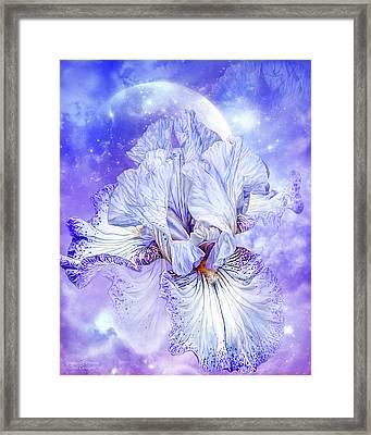 Framed Print featuring the mixed media Iris - Goddess Of Dreams by Carol Cavalaris