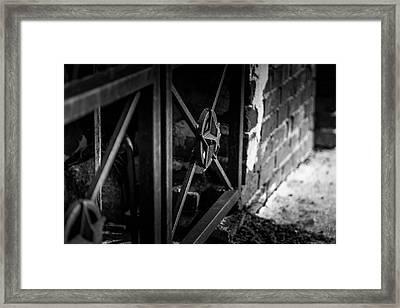 Iron Gate In Bw Framed Print