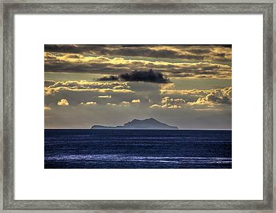 Island Cloud Framed Print