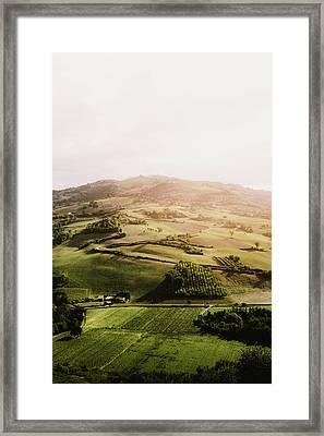 Italian Hill Framed Print by Antonio Zarrillo