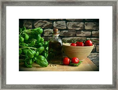 Italian Ingredients Framed Print